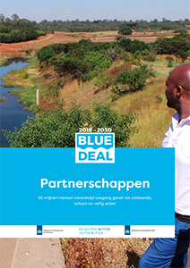 Cover of the 'Blue Deal partnerschappen' brochure in Dutch.