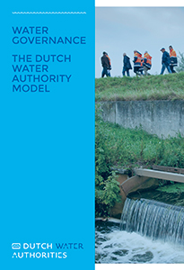 Cover of brochure 'Water governance: The Dutch water authority model'.